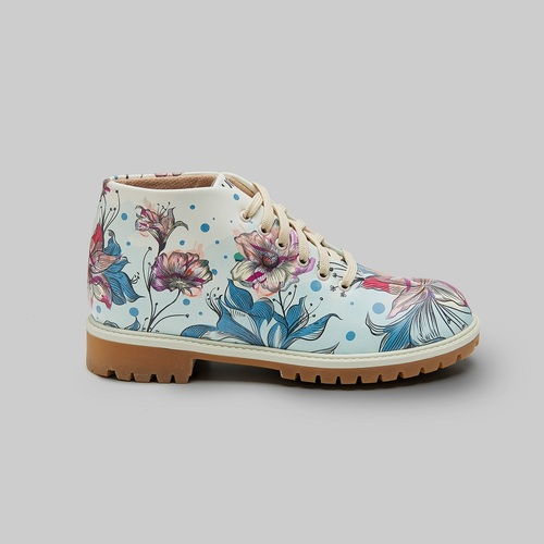 [mumka] Flowers on Green Shortboots