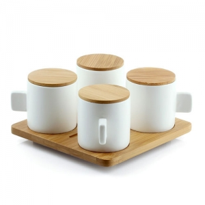 [LEXON] Coffee for 4 -커피 포4 Bamboo/White - LH36H