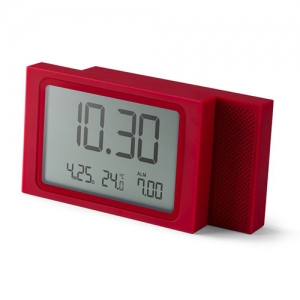 [LEXON] SLIDE lcd alarm clock red - LR141R7
